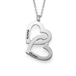 Romantische 925er Silber Herzkette Produktfoto