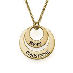 Schmuck für Mütter - Vergoldete Ringkette Produktfoto