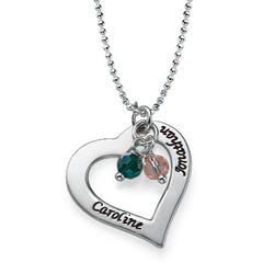 Gravierbare Herzkette aus Silber Produktfoto