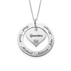 Kette für Großmütter und Mütter aus Sterling Silber Produktfoto