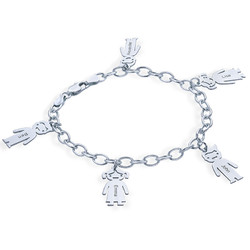 Graviertes Armband mit Kinder Charms in 925er Silber product photo