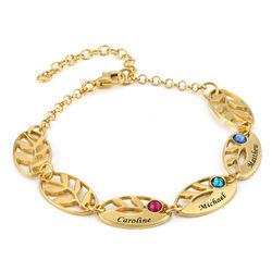 Goldbeschichtetes Mutter-Blattarmband mit Gravur product photo