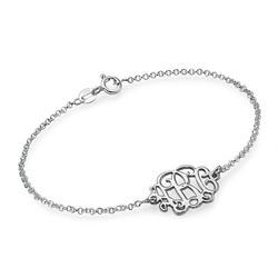 Monogramm Armband / Fußkette mit Initialen aus 925er Silber Produktfoto