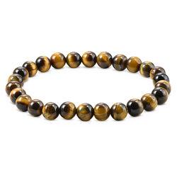 Perlen-Tigerauge-Armband für Herren Produktfoto