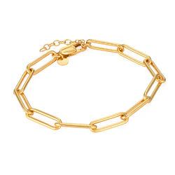 Chain Link Armband mit Gold-Beschichtung Produktfoto