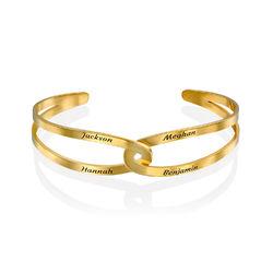 Hand in Hand - personalisierter Armreif aus 750er Gold-Vermeil Produktfoto