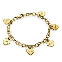 Gravierbares Armband mit Herz Anhänger Produktfoto