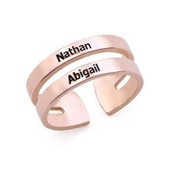 Ring mit Namen - mit 750er Rosévergoldung Produktfoto
