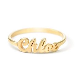 Namensring aus Goldbeschichtung Produktfoto
