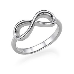 925er Silber Infinity-Unendlich Ring Produktfoto