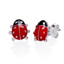 Marienkäfer Ohrringe für Kinder Produktfoto