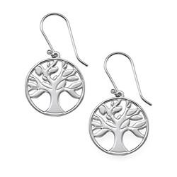 Stammbaumohrringe aus Sterling Silber Produktfoto