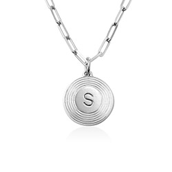 Odeion Initial-Halskette aus Sterlingsilber Produktfoto