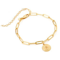 Odeion Initial-Gliederarmband in Gold-Vermeil Produktfoto