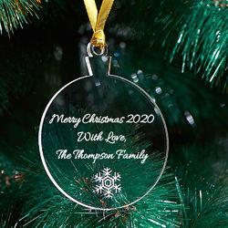 Personalisierte Weihnachtsverzierung mit Schneeflocke Produktfoto