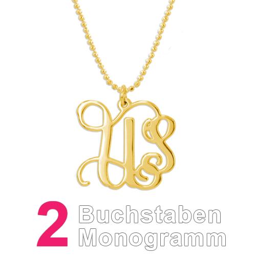 750er vergoldete Kette mit Monogramm - 3