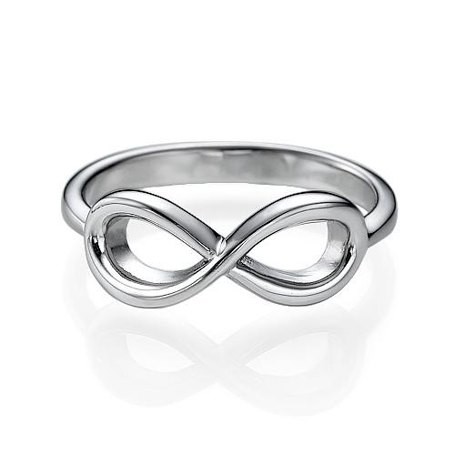 925er Silber Infinity-Unendlich Ring - 1
