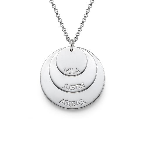 925er Silber Mutterkette mit Kindernamen