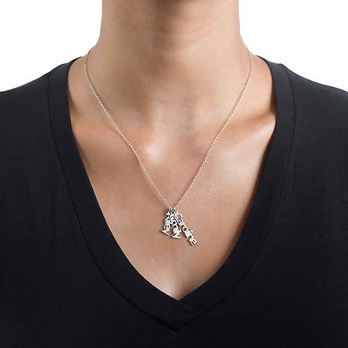 925er Silberkette mit senkrechten Namensanhängern - 2