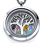 Charm Medaillon - Familienstammbaum