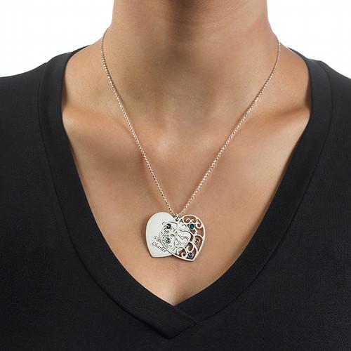 Filigrane Herz Stammbaum Halskette - 2
