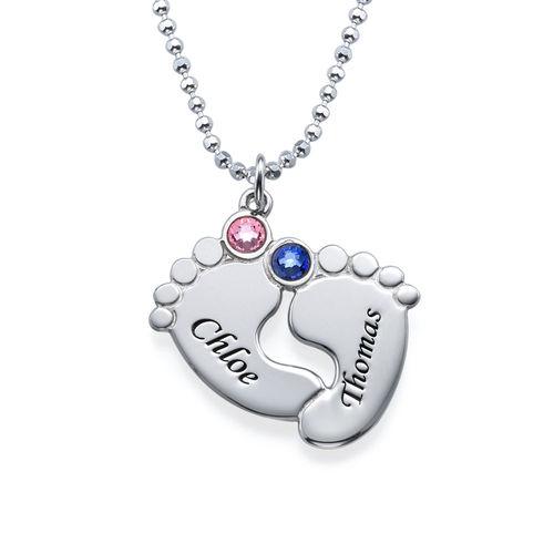 Gravierbare Babyfüße Halskette