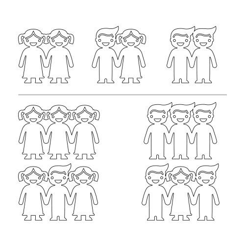 Händehaltende Kinderkette - 1