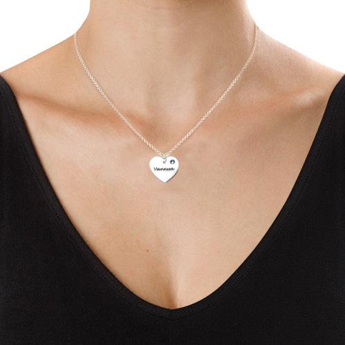 Herzkette mit Swarovski Kristall - 1