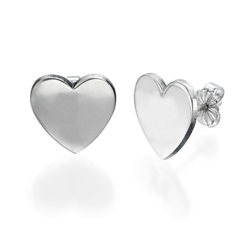 Herzohrringe mit Initialen - 1