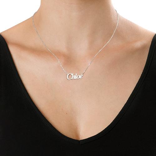 """Kleine 925 Silber Namenskette im """"Angel"""" Style - 1"""