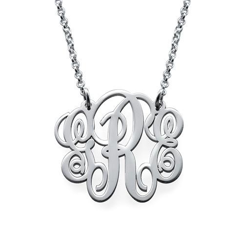 Monogrammkette aus Sterling Silber