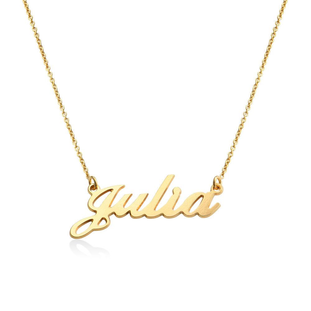 Vergoldete 925 Silber Namenskette in Druckschrift- Klassik