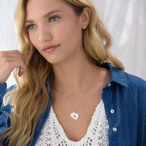 Personalisierte Babyfuß Halskette - 2