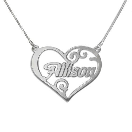 Personalisierte Herz Namenskette