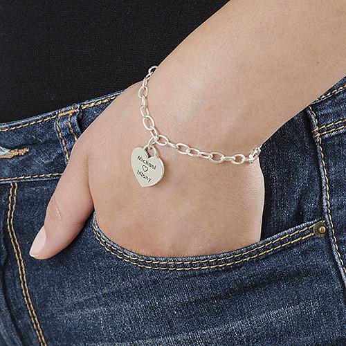 Individualisiertes Herz Armband aus 925 Sterling Silber - 2