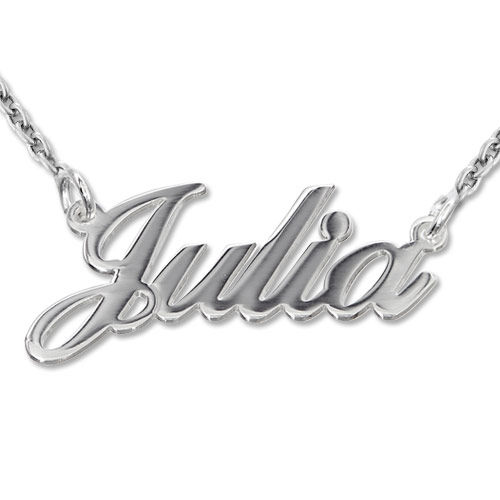 925 Silber Namenskette in Druckschrift- Klassik