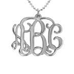 Silberkette mit Monogramm