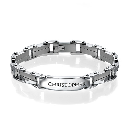 Stainless Steel ID Armband