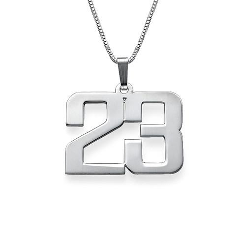 Sterling Silber Zahlen Halskette für Herren