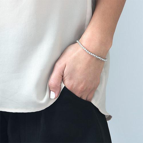 Tennisarmband mit Swarovski-Kristallen - 1