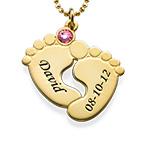 Vergoldete Babyfüße Halskette