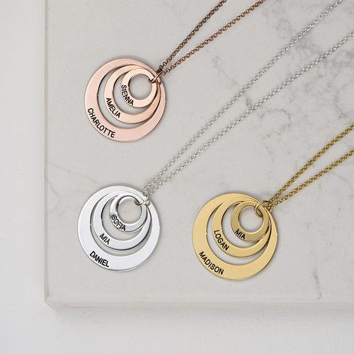 Vergoldete Halskette mit drei Ringen für Mütter Schmuck für Mütter - 3