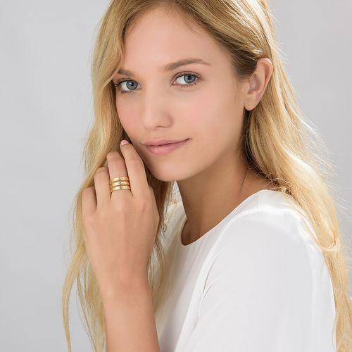 Vergoldeter Ring mit drei Namen - 3