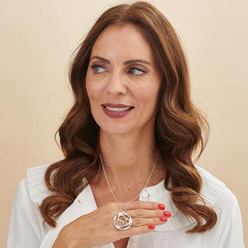 Herz in Herz Halskette mit Geburtssteinen - 2