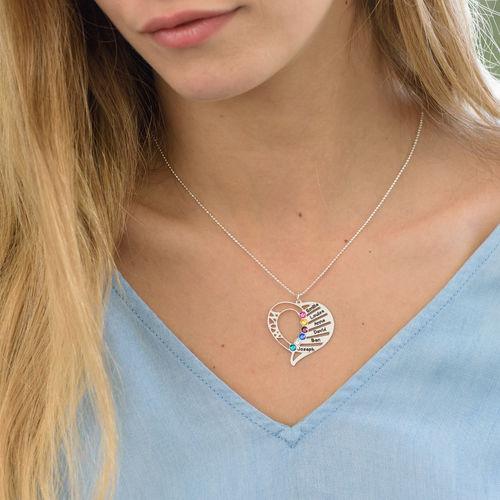 Gravierbare Geburtsstein Halskette für Mütter - 1