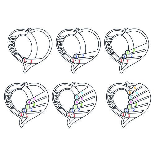 Vergoldete Geburtsstein Halskette für Mütter - 2