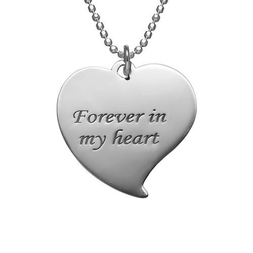 Herzförmige Foto Halskette aus Sterling Silber - 2