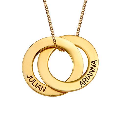 Russische Ring Halskette mit zwei Ringen - vergoldet