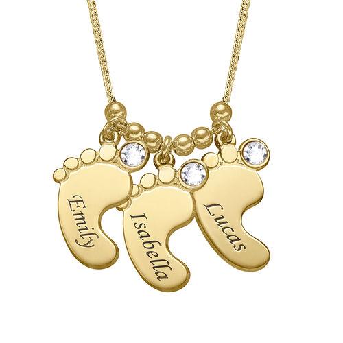 Mutterschmuck - Vergoldete Babyfuß Halskette - 1