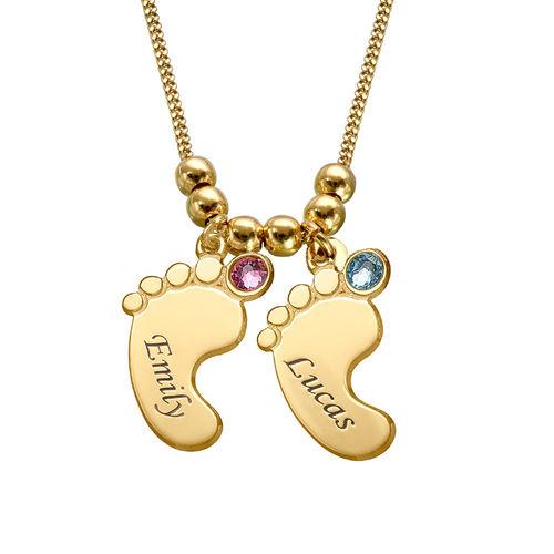 Mutterschmuck - Vergoldete Babyfuß Halskette - 2